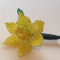 Beaded Wire Daffodil