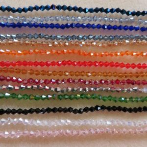 4mm Faceted Bicone Crystal-0