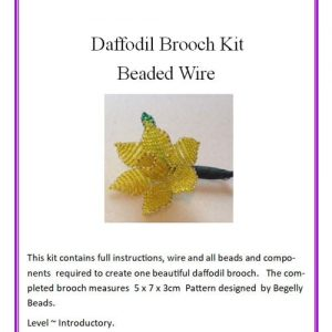 Beaded, Wire-work Daffodil Brooch, Kit