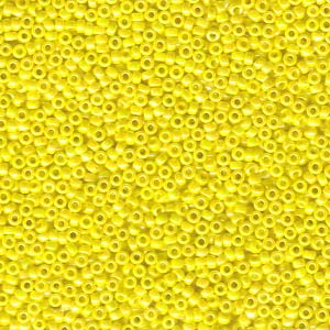 15-9472 Opaque Yellow AB 8.2g Miyuki Seed Beads