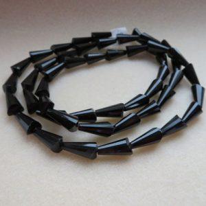 Black Faceted Cones 15mm