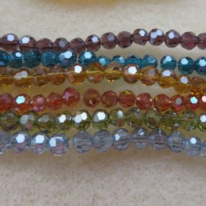 3mm Round Faceted Crystals