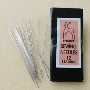 Size 12 beading needles (25-Pack)