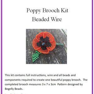 Poppy Brooch Kit - Wire-0