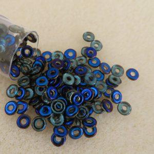 Czech O Beads Blue Iris