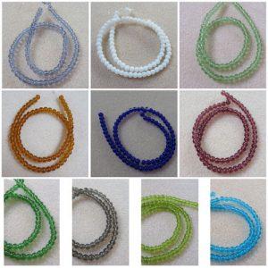 4mm Round Glass Beads-0