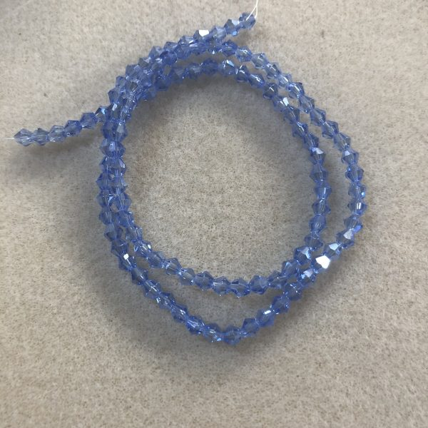 Blue Faceted 4mm bicones