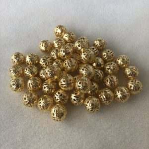 Gold Plated Filigree Beads
