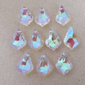 Faceted Crystal Briolette 22mm