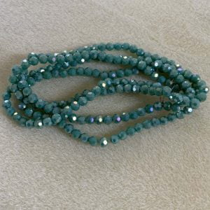 4mm Faceted Opaque Turquoise