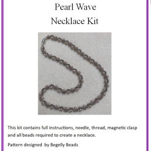 Pearl wave necklace kit