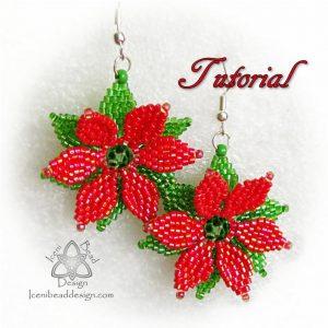 Poinsettia Earrings Patten