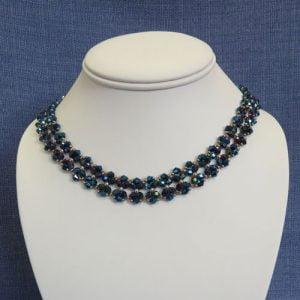 Blue Bow Tie Necklace