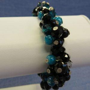 Black Ruffle Bracelet