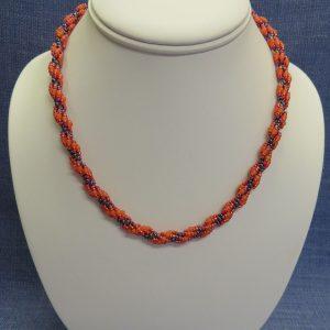 Orange Spiral Necklace
