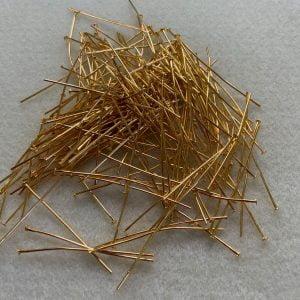 Gold Plate Head Pins