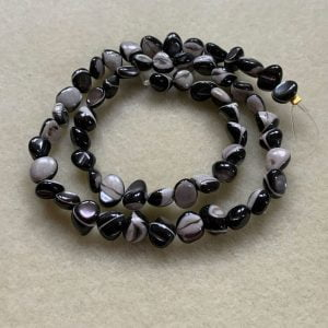 Shell Beads Black and White