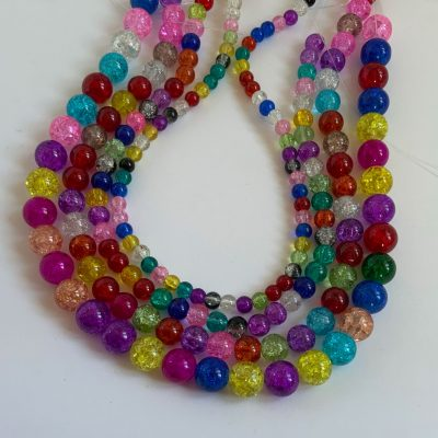 Crackle glass Beads